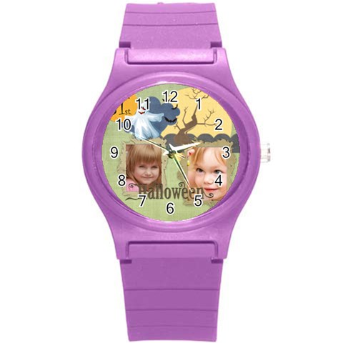 Love, Kids, Happy, Fun, Family, Holiday By Jacob   Round Plastic Sport Watch (s)   Ocovgyv3hhrq   Www Artscow Com Front