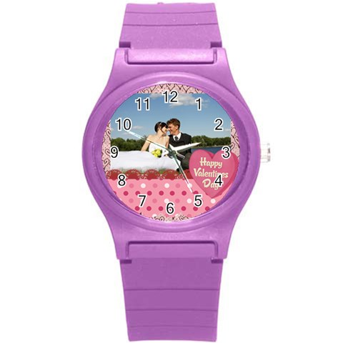 Love, Kids, Happy, Fun, Family, Holiday By Jacob   Round Plastic Sport Watch (s)   33go68q83fd3   Www Artscow Com Front