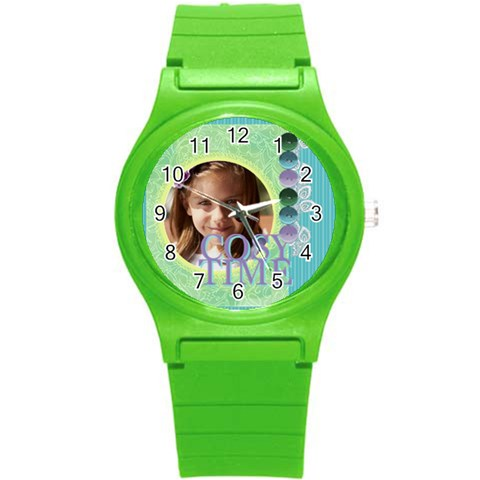Love, Kids, Happy, Fun, Family, Holiday By Jacob   Round Plastic Sport Watch (s)   2p3wzogt8wlj   Www Artscow Com Front