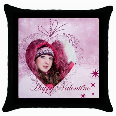 Love, Valentine By Ki Ki   Throw Pillow Case (black)   Ynhisu1low75   Www Artscow Com Front