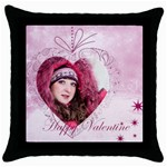 love, valentine - Throw Pillow Case (Black)