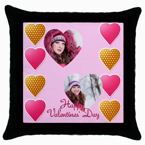 Love, Valentine By Ki Ki   Throw Pillow Case (black)   Bqbs4wkvz9vu   Www Artscow Com Front