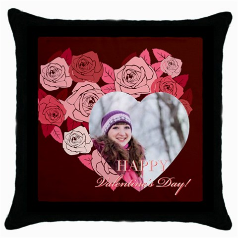 Love, Valentine By Ki Ki   Throw Pillow Case (black)   Fybtir522d9v   Www Artscow Com Front
