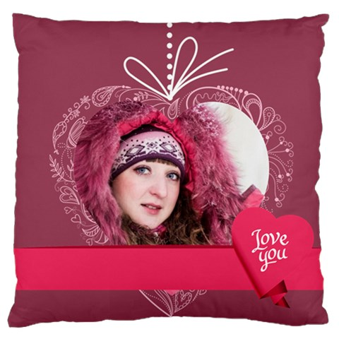 Love, Kids, Memory, Happy, Fun  By Ki Ki   Large Cushion Case (one Side)   P2l4zg79lphp   Www Artscow Com Front