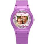 love - Round Plastic Sport Watch (S)