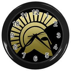 Spartans Clock Wall Clock (Black) by spartans