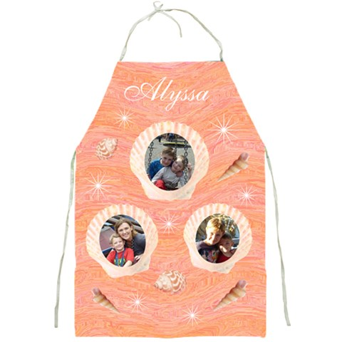 Stars And Shells Apron By Lmw   Full Print Apron   Qlyjnrz4k94h   Www Artscow Com Front