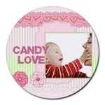 love - Collage Round Mousepad