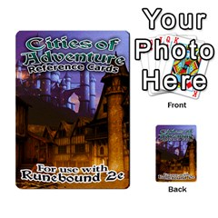 Cities Of Adventure: Reference Cards By J C  Hendee   Multi Purpose Cards (rectangle)   Adbx4mmugk24   Www Artscow Com Front 1
