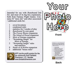 Cities Of Adventure: Reference Cards By J C  Hendee   Multi Purpose Cards (rectangle)   Adbx4mmugk24   Www Artscow Com Back 1
