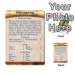 Cities Of Adventure: Reference Cards By J C  Hendee   Multi Purpose Cards (rectangle)   Adbx4mmugk24   Www Artscow Com Back 51