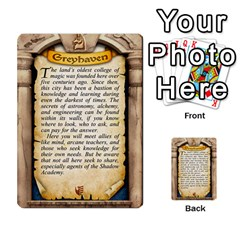 Cities Of Adventure: Reference Cards By J C  Hendee   Multi Purpose Cards (rectangle)   Adbx4mmugk24   Www Artscow Com Back 6