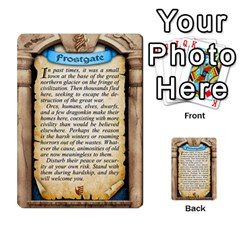 Cities Of Adventure: Reference Cards By J C  Hendee   Multi Purpose Cards (rectangle)   Adbx4mmugk24   Www Artscow Com Back 7