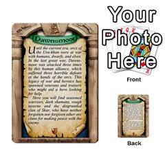 Cities Of Adventure: Reference Cards By J C  Hendee   Multi Purpose Cards (rectangle)   Adbx4mmugk24   Www Artscow Com Back 9