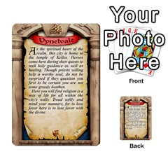 Cities Of Adventure: Reference Cards By J C  Hendee   Multi Purpose Cards (rectangle)   Adbx4mmugk24   Www Artscow Com Back 11