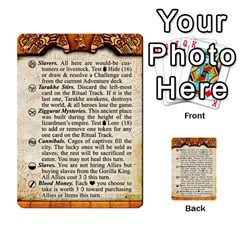 Cities Of Adventure: Reference Cards By J C  Hendee   Multi Purpose Cards (rectangle)   Adbx4mmugk24   Www Artscow Com Front 21