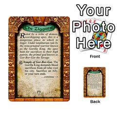 Cities Of Adventure: Reference Cards By J C  Hendee   Multi Purpose Cards (rectangle)   Adbx4mmugk24   Www Artscow Com Back 21