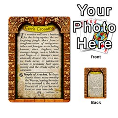 Cities Of Adventure: Reference Cards By J C  Hendee   Multi Purpose Cards (rectangle)   Adbx4mmugk24   Www Artscow Com Back 23