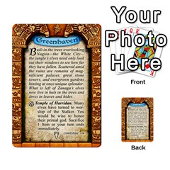 Cities Of Adventure: Reference Cards By J C  Hendee   Multi Purpose Cards (rectangle)   Adbx4mmugk24   Www Artscow Com Back 29