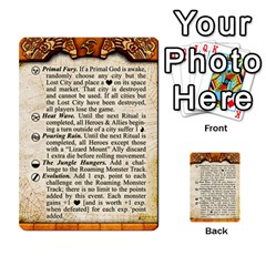 Cities Of Adventure: Reference Cards By J C  Hendee   Multi Purpose Cards (rectangle)   Adbx4mmugk24   Www Artscow Com Front 30