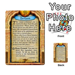 Cities Of Adventure: Reference Cards By J C  Hendee   Multi Purpose Cards (rectangle)   Adbx4mmugk24   Www Artscow Com Back 35