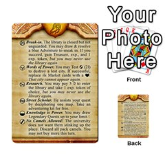 Cities Of Adventure: Reference Cards By J C  Hendee   Multi Purpose Cards (rectangle)   Adbx4mmugk24   Www Artscow Com Front 37