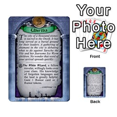 Cities Of Adventure: Reference Cards By J C  Hendee   Multi Purpose Cards (rectangle)   Adbx4mmugk24   Www Artscow Com Back 45