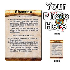 Cities Of Adventure: Reference Cards By J C  Hendee   Multi Purpose Cards (rectangle)   Adbx4mmugk24   Www Artscow Com Front 50