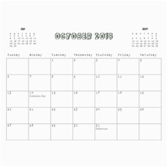Cally By Christine Carter   Wall Calendar 11  X 8 5  (12 Months)   X4qcxma2s3x3   Www Artscow Com Oct 2013