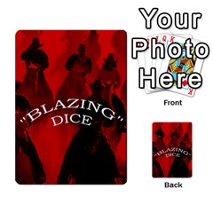 Blazing Dice Shared  1 By Dave Docherty   Multi Purpose Cards (rectangle)   Q4bf63028ym9   Www Artscow Com Front 45