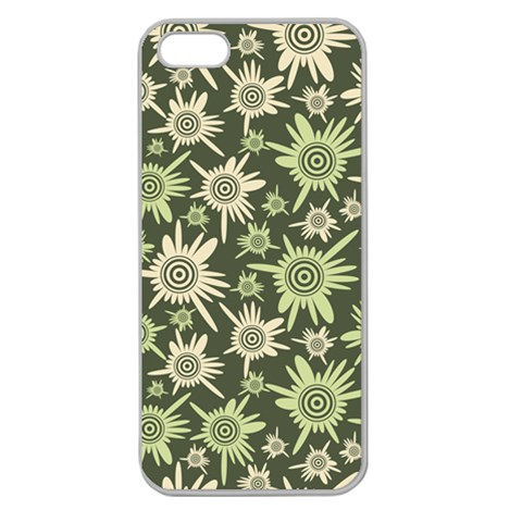 Pattern By Divad Brown   Apple Seamless Iphone 5 Case (clear)   Oj7km1utdltb   Www Artscow Com Front