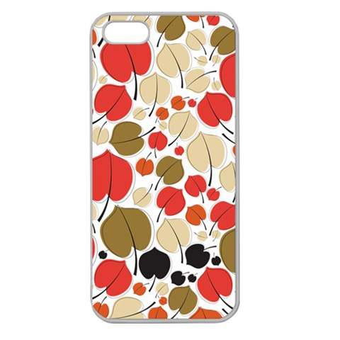 Pattern By Divad Brown   Apple Seamless Iphone 5 Case (clear)   5v1qx2qlp5f9   Www Artscow Com Front