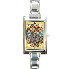 South West Leather Look Classic Elegant Ladies Watch (Rectangle) by artattack4all