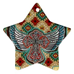 South West Leather Look Ceramic Ornament (star) by artattack4all