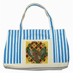 South West Leather Look Blue Striped Tote Bag by artattack4all