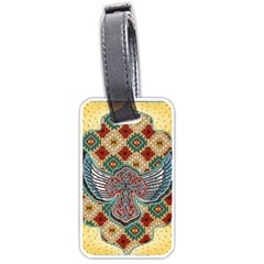 South West Leather Look Twin Sided Luggage Tag by artattack4all