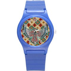 South West Leather Look Round Plastic Sport Watch Small by artattack4all