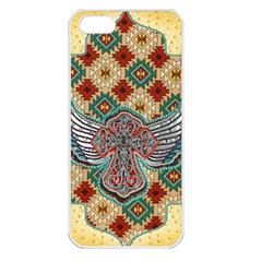 South West Leather Look Apple Iphone 5 Seamless Case (white) by artattack4all