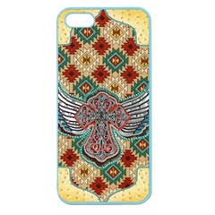 South West Leather Look Apple Seamless Iphone 5 Case (color) by artattack4all