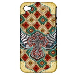 South West Leather Look Apple Iphone 4/4s Hardshell Case (pc+silicone) by artattack4all