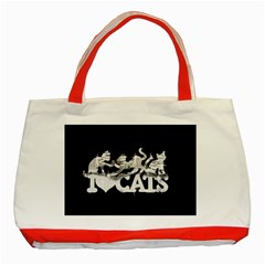 Catz Red Tote Bag by artattack4all