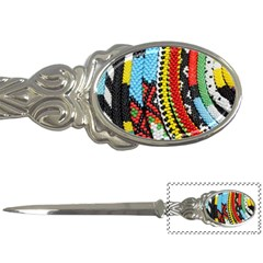 Multi Colored Beaded Background Paper Knife