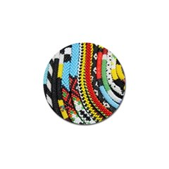 Multi Colored Beaded Background Golf Ball Marker