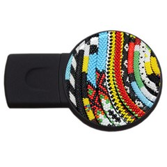 Multi Colored Beaded Background 4gb Usb Flash Drive (round)