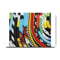 Multi Colored Beaded Background Small Door Mat