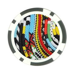 Multi Colored Beaded Background Poker Chip by artattack4all