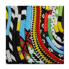 Multi Colored Beaded Background Face Towel by artattack4all