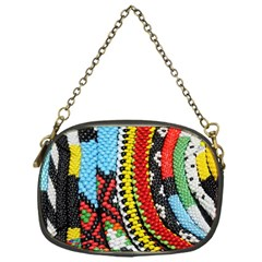 Multi Colored Beaded Background Single Sided Evening Purse by artattack4all