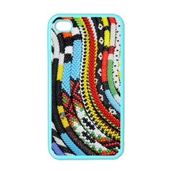 Multi Colored Beaded Background Apple Iphone 4 Case (color) by artattack4all
