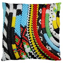 Multi Colored Beaded Background Large Cushion Case (two Sides) by artattack4all